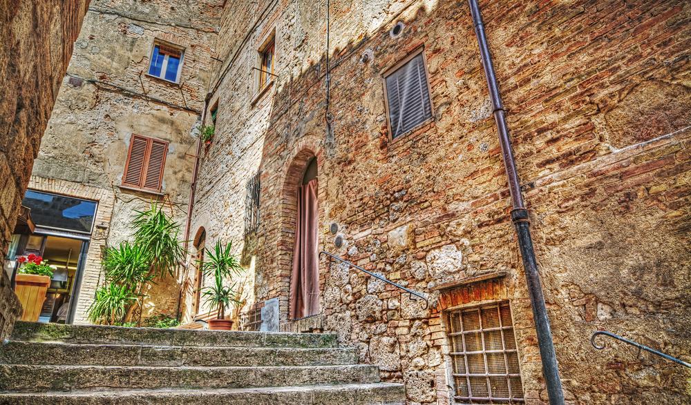 Little street in San Gimignano