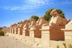 Avenue of Rams in Karnak Temple, Karnak, Egypt