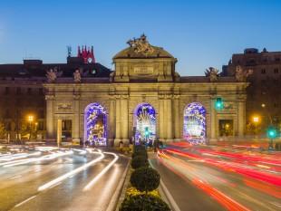 Puerta de Alcala de Madrid de noche