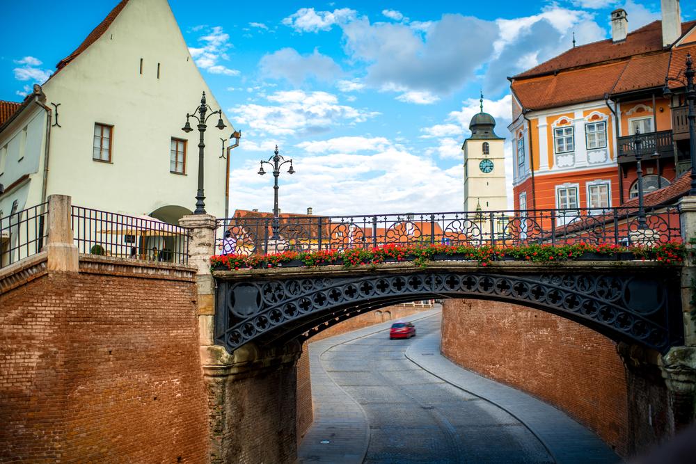 The bridge of Lies in Sibiu city, Romania